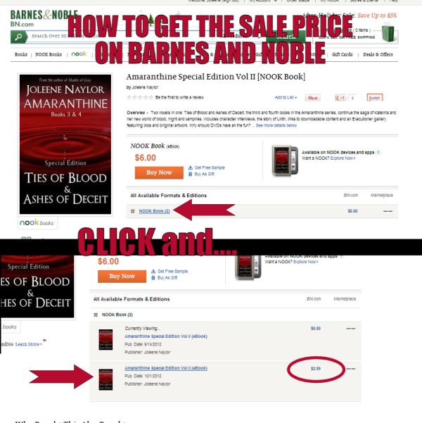 B&N sale price
