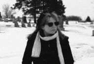 Becki retro in graveyard